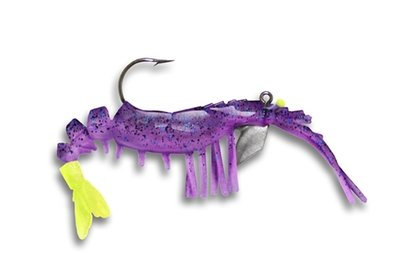 31 Vudu Shrimp Purple Chartreuse 2 inch 1/16 oz (2pk)