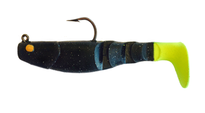 15 Vudu Mambo Mullet Black Magic/Chart Tail 3.5 inch 1/4 oz (2pk)