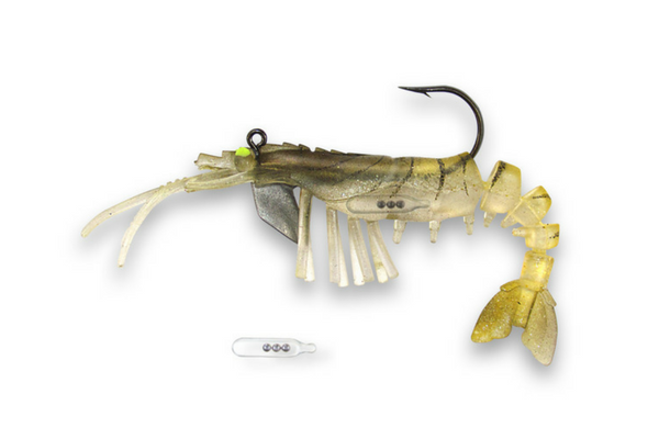 08 Vudu Shrimp Rattler Gold 3.5 inch 1/4 oz (2/pk)