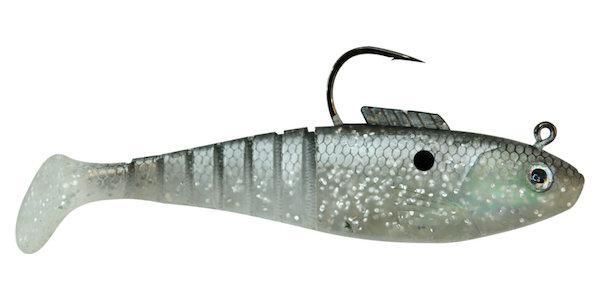 03 Vudu Shad  Silver Mullet 4 inch 3/8 oz 3/pk
