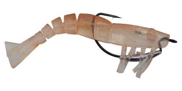 09 Vudu Weedless Shrimp Clear 3.5 inch 1/8 oz 2/pk