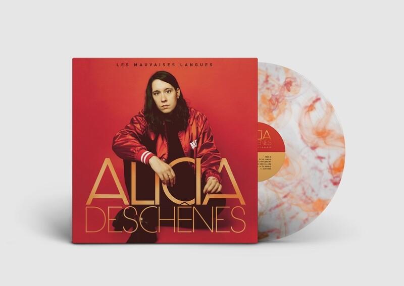 Alicia Deschênes - Les mauvaises langues (album vinyle orange et rouge)