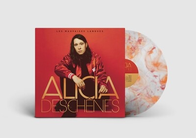 Alicia Deschênes - Les mauvaises langues (album vinyle orange et rouge)