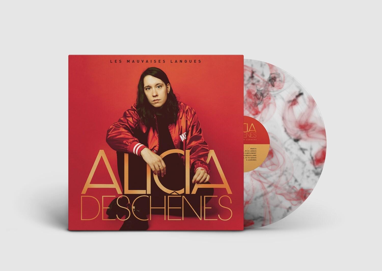 Alicia Deschênes - Les mauvaises langues (album vinyle noir et rouge)