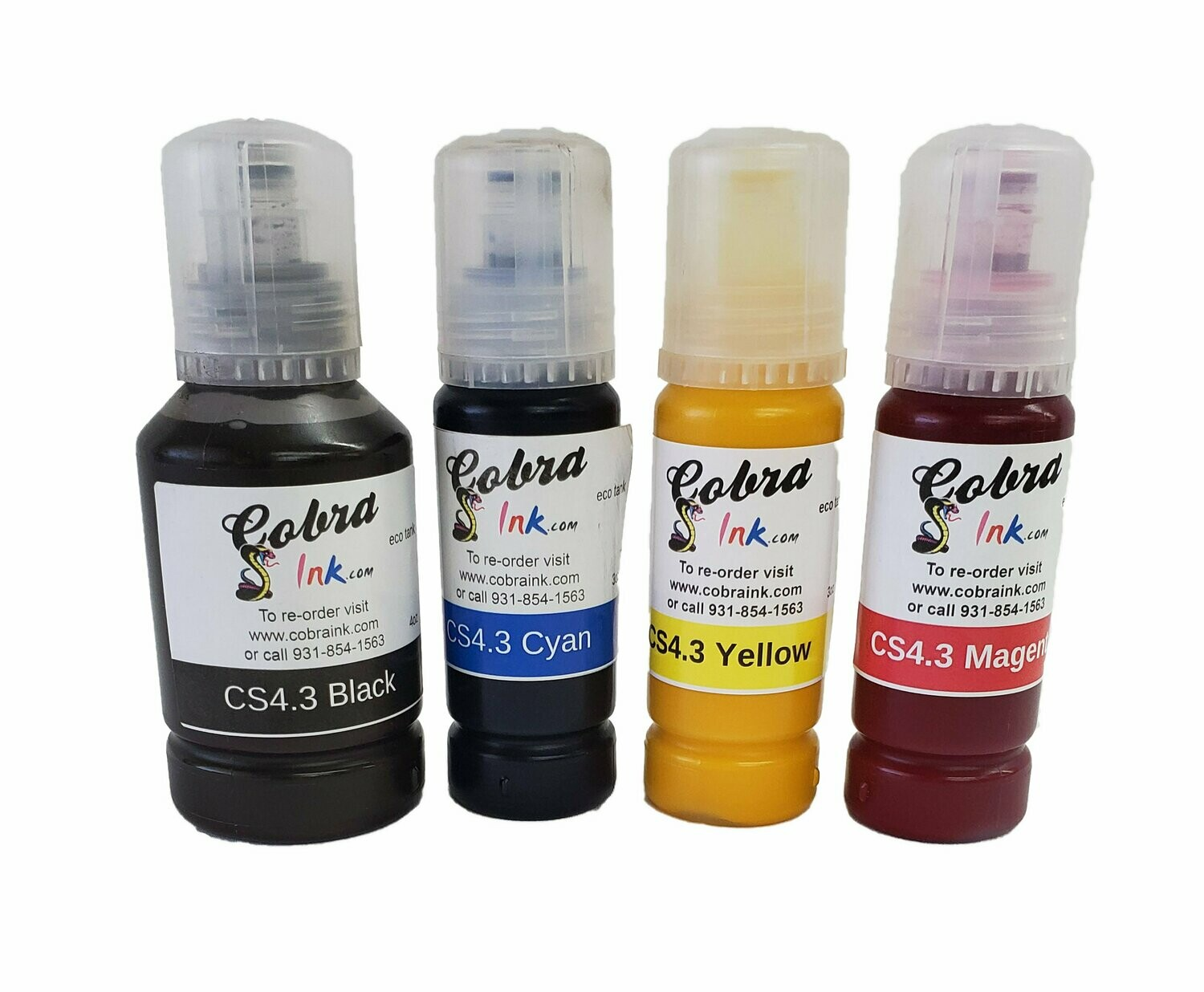 Eco tank 4 color sublimation ink single and set