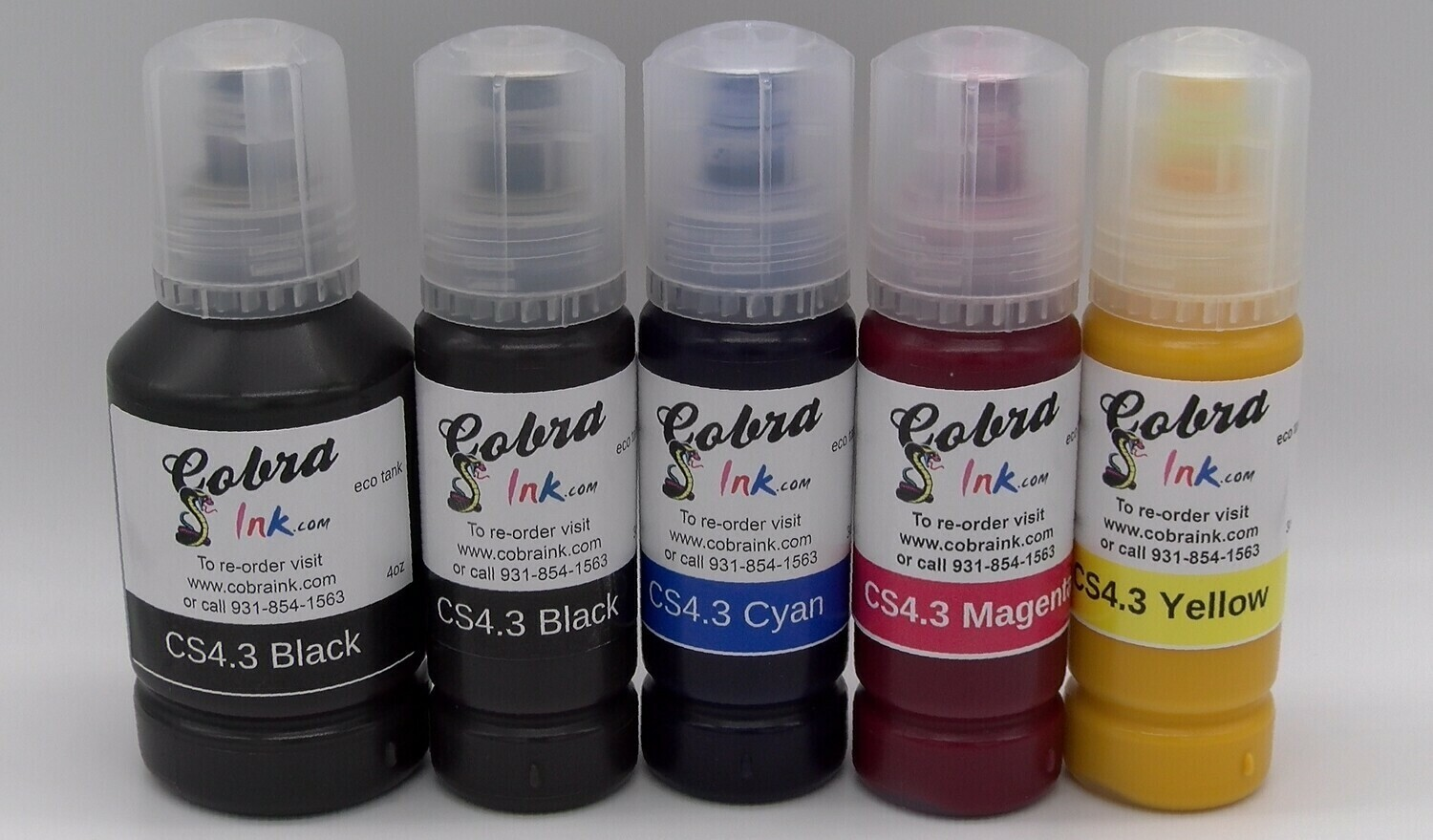 Eco tank 5 color sublimation ink single and set