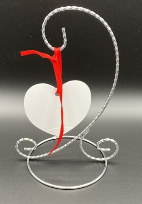 Sublimation aluminium heart shaped ornament