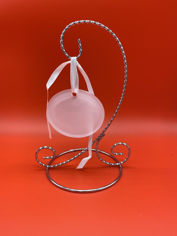 "Sublimation Blank Acrylic Ornament - 2.25"" x 3"" - Oval Landscape"