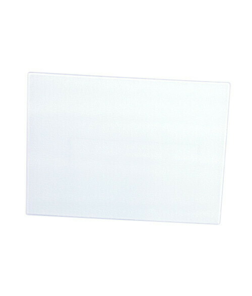"""Glass cutting board with white bottom 12"""" X 15"""""""