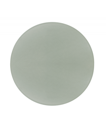 Round glass cutting board with white bottom