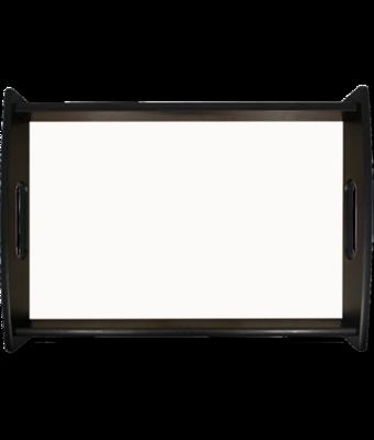 Large serving tray, black