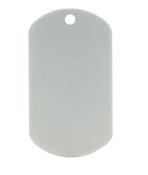 White military blank dog tag (two-sided)