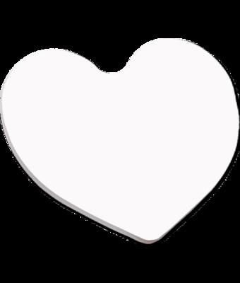 HEART HARDBOARD COASTER 3-7/8