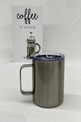 10OZ  CLEAR STAINLESS COFFEE CUP