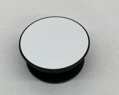 Pop Socket black with blank white insert for sublimation