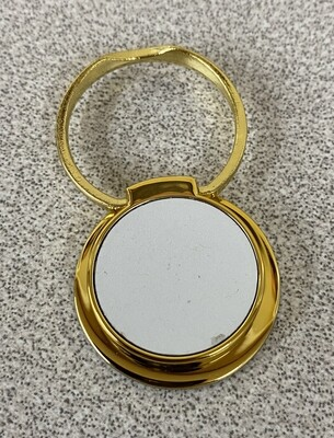 Gold ring stand with white aluminium insert for sublimation