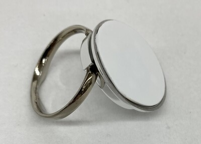 Silver ring stand with white aluminium insert for sublimation