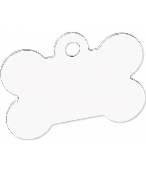 Dog Bone Pet tag, white unisub