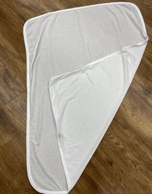 Baby receiving blanket, white blank