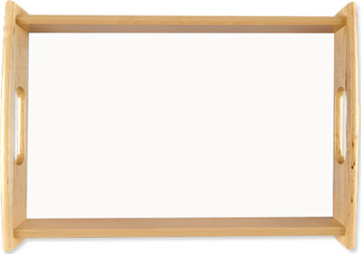 Large serving tray, natural