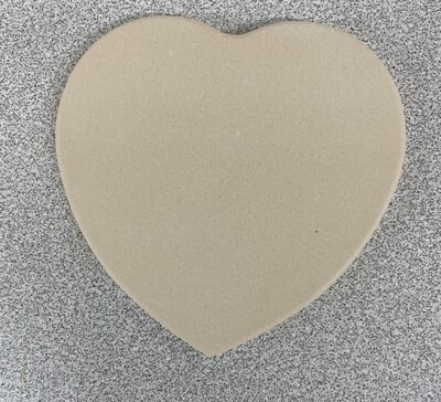 Matte heart shaped ceramic coaster with cork back