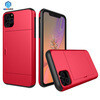 Slide card slot phone case for Iphone 11 Pro Red