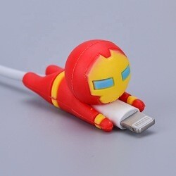 Silicone protector cable Ironman
