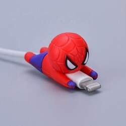 Silicone protector cable spiderman
