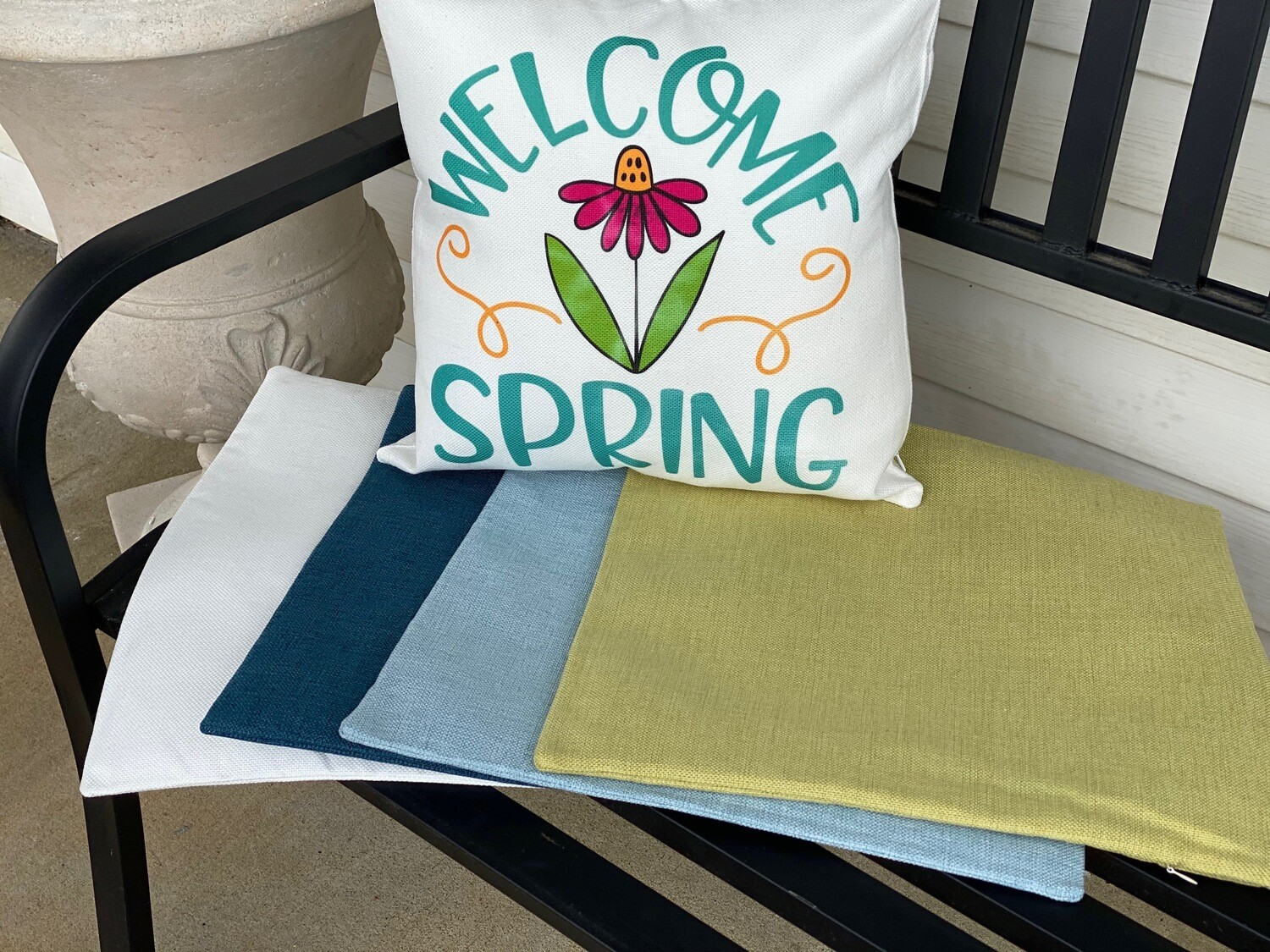 Linen Pillow covers for sublimation green