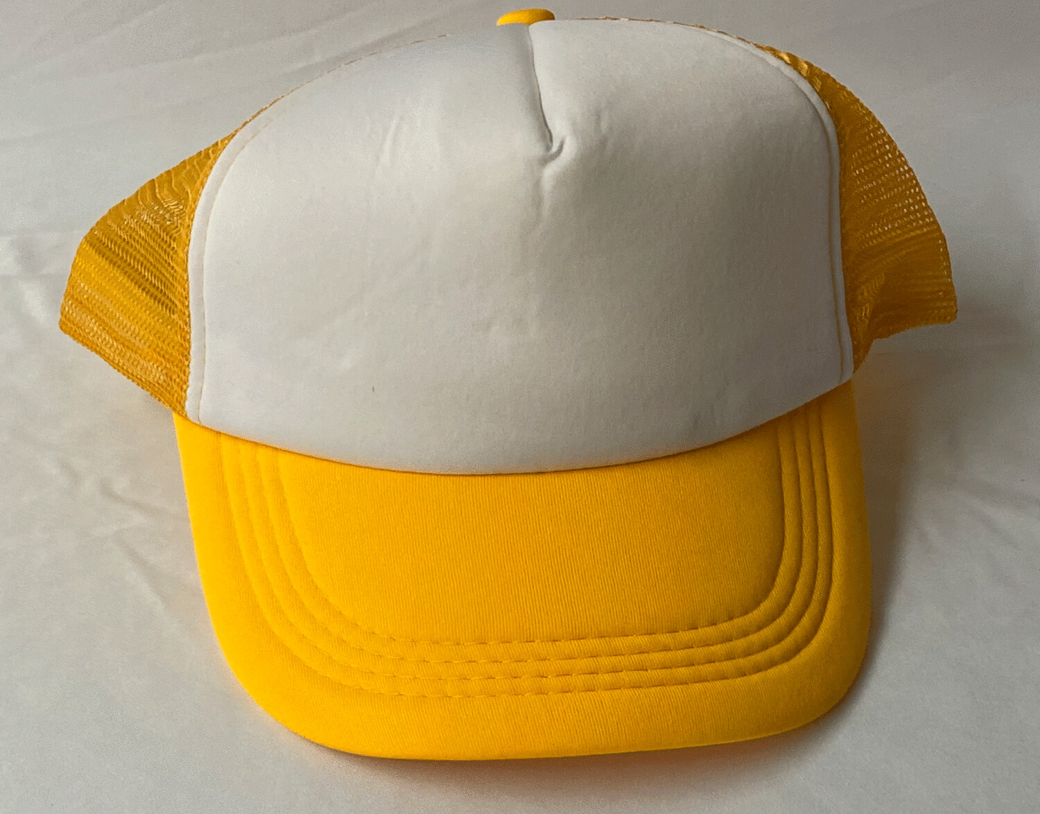 Yellow sublimation trucker hat