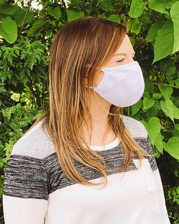 3 Ply white washable face mask