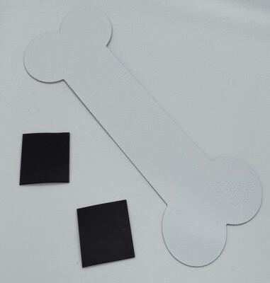 Sublimation aluminum magnet dog bone 9
