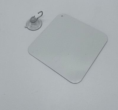 Aluminum blank sublimation sign with suction 3.75