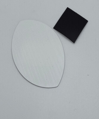 Aluminum sublimation football shaped magnet, with adhesive