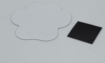 Aluminum sublimation paw shaped magnet, with adhesive