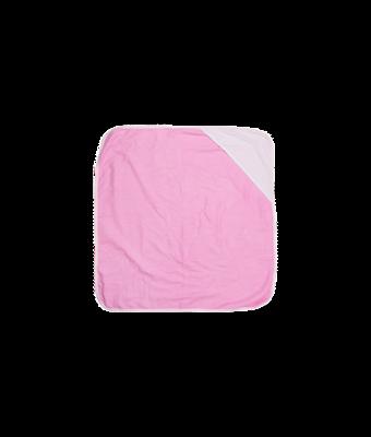 Hooded baby towel pink