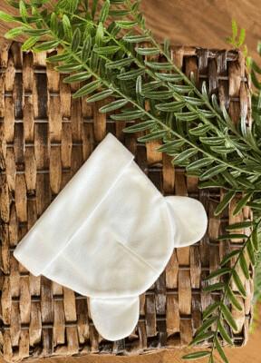 Baby Bear Ears Beanie Polyester Hat – White