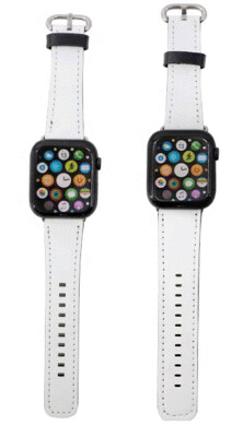 Sublimation Blank Faux Leather Watchbands for Apple watch