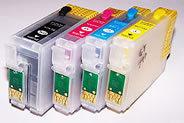 Cobra Ink Code127 High Capacity 4 color Desktop refillable singles
