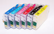 Code 77 High Capacity 6 color Empty Refillable Sets