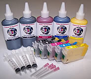High Capacity  Code 68 ALL BLACK Dye Base 2 black combo pack
