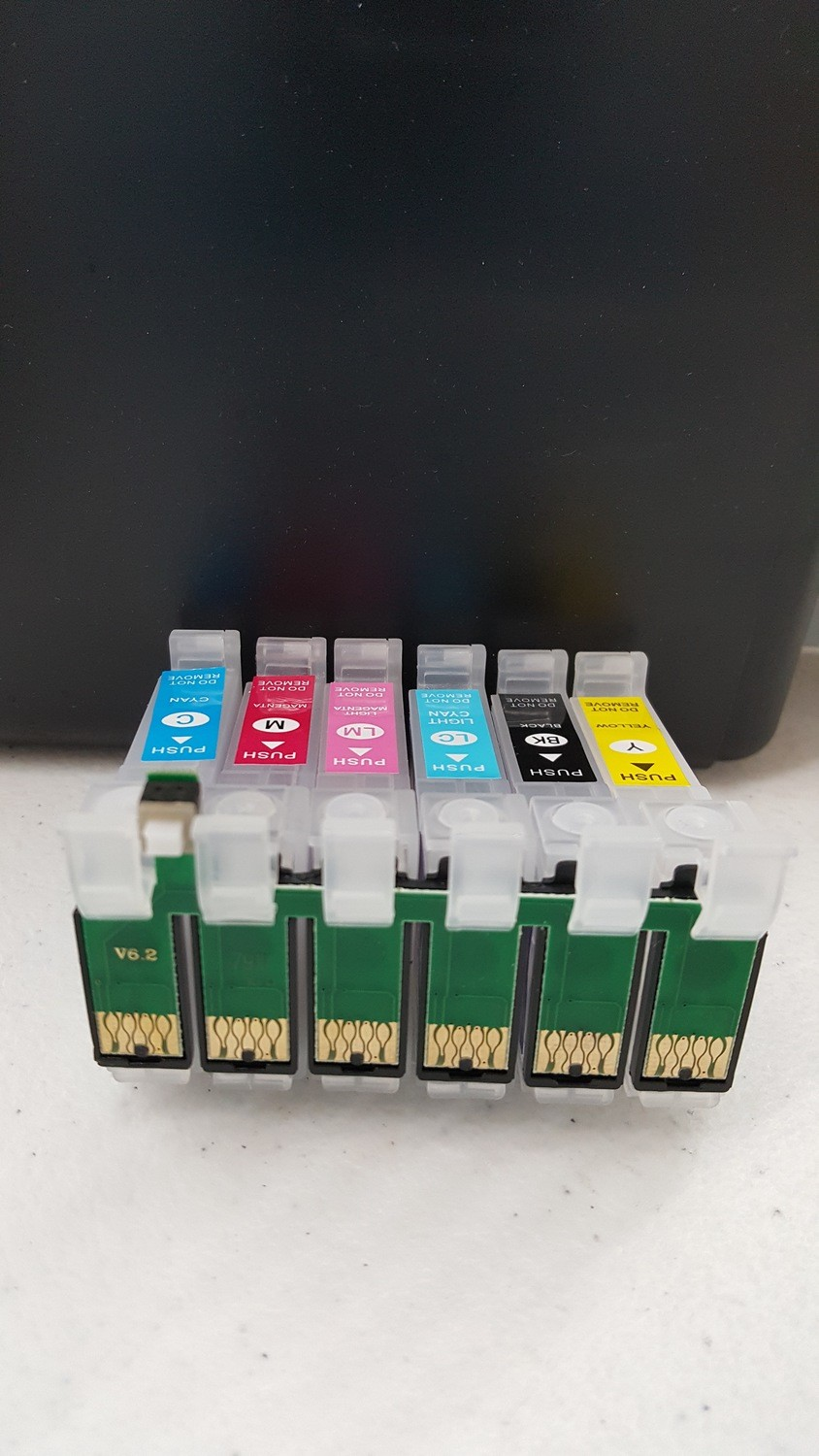 CIS Cartridges with Reset Chip Set 1430 empty No Battery Needed