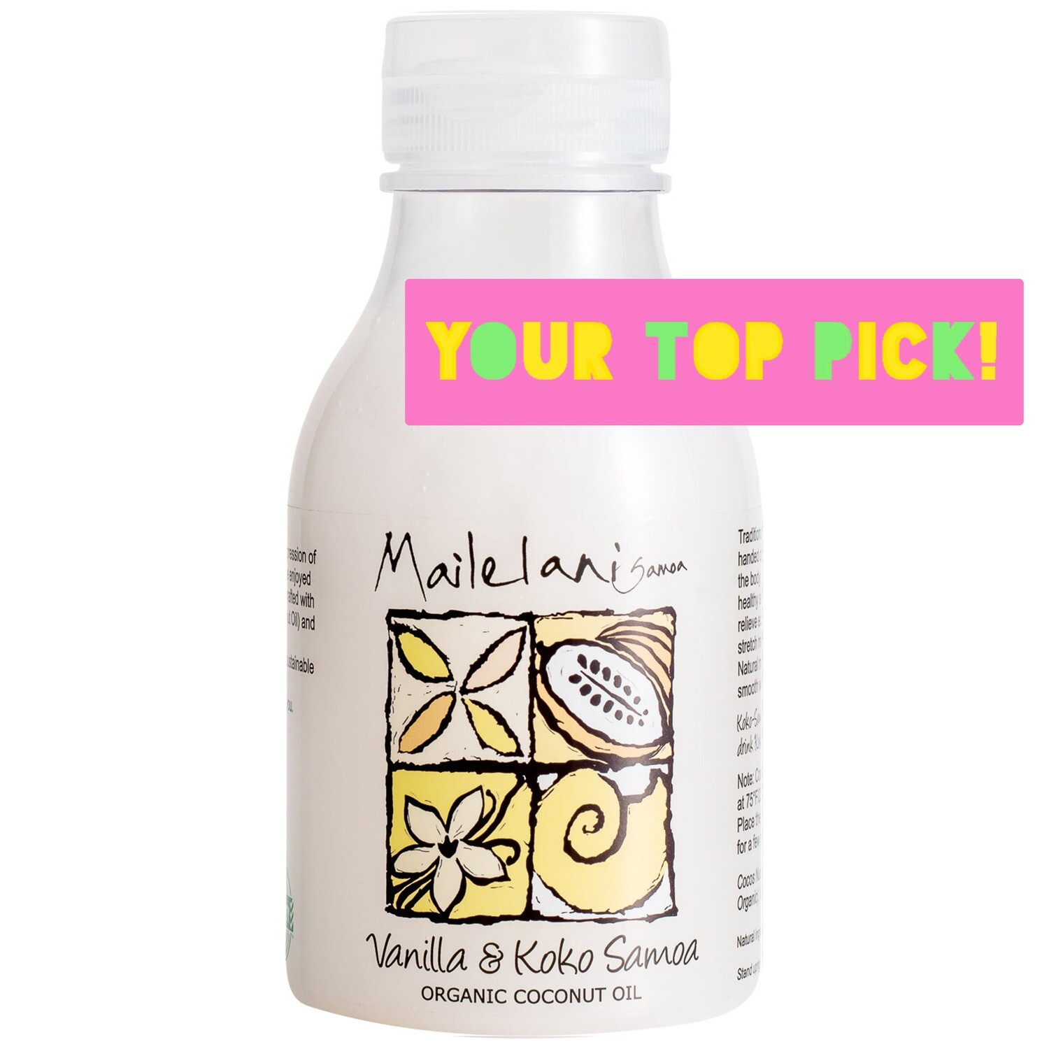 Vanilla & Koko Samoa Organic Coconut Body Oil 300ml / 10.14 fl oz