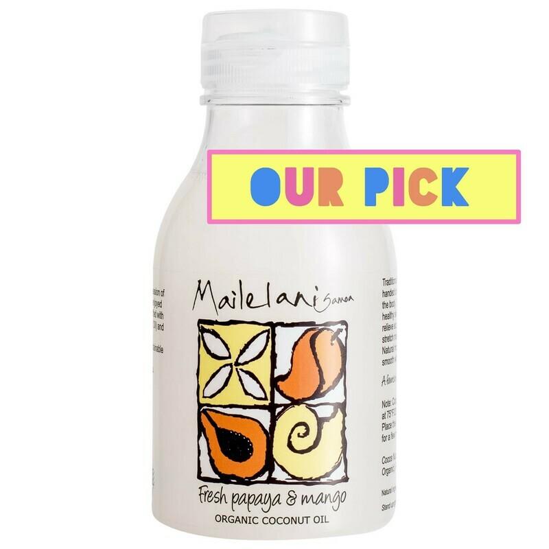 END OF STOCK OIL - Fresh Papaya & Mango Organic Coconut Body Oil 300ml / 10.14 fl oz