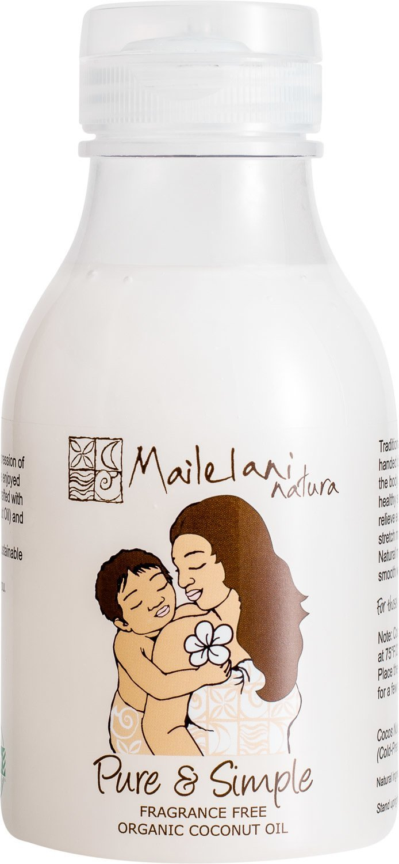 Pure & Simple (Fragrance Free) Organic Coconut Body Oil 300ml / 10.14 fl oz