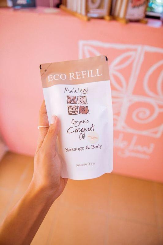 Vanilla & Koko Samoa- Eco Refill Pouch 300ml Organic Coconut Oil