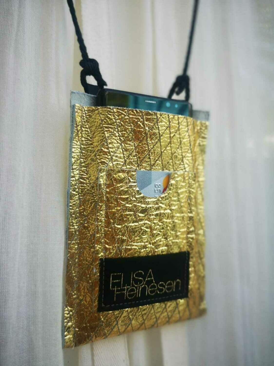 Gold Phone+Card Pouch