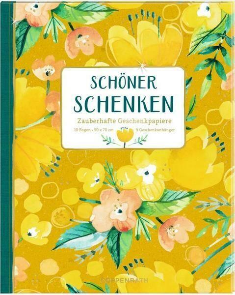 Geschenkpapier-Buch Gelb