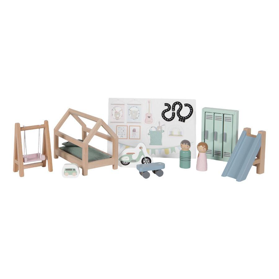 Puppenhaus Einrichtung Kinderzimmer 12-teilig