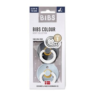 BIBS Night Gr. 1, 2er Pack Iron & Baby Blue